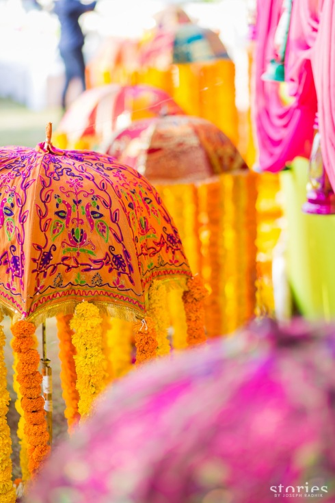Colourful ethnic Rajasthani theme mehendi decor Shonan & Adesh