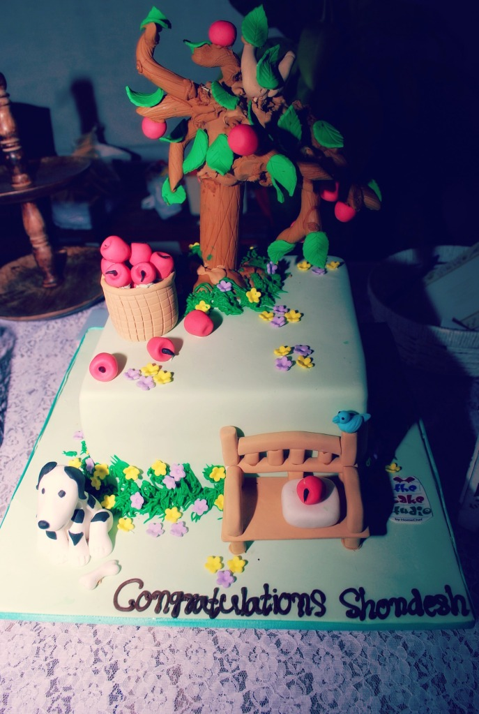 Fondant Cake at picnic theme bridal shower by the cake studio by homechef