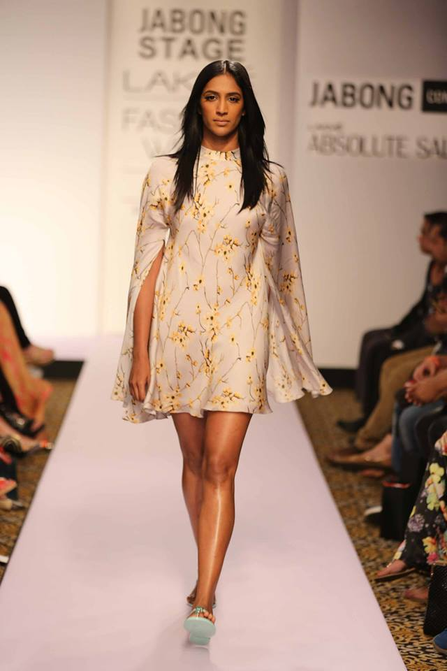 Honeymoon outfit | Cape dress by Sailex | Lakme Fashion Week Summer Resort 2015 | thedelhibride Indian weddings blog