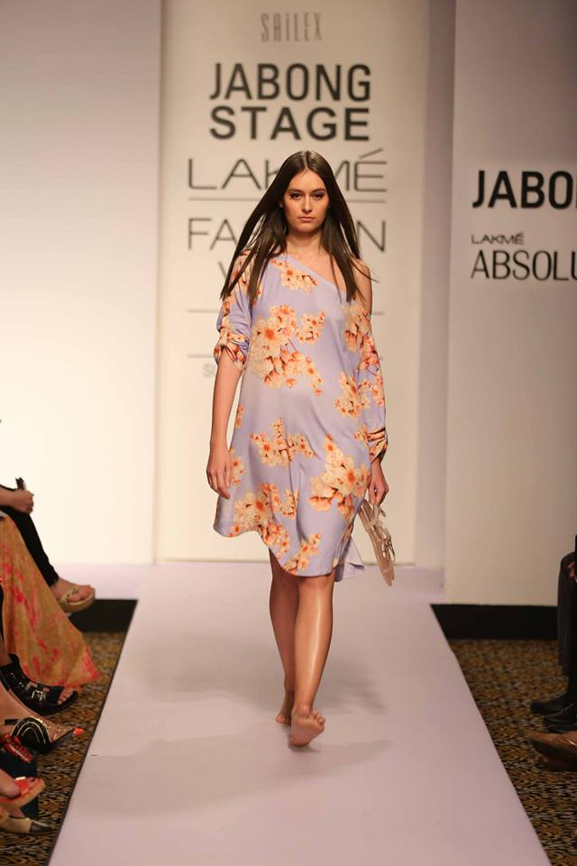 Honeymoon outfit | Floral dress for resort wear by Sailex | Beach honeymoon | Lakme Fashion Week Summer Resort 2015 | thedelhibride Indian weddings blog
