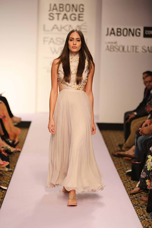 Honeymoon outfit | Stylish dress by Sailex | Lakme Fashion Week Summer Resort 2015 | thedelhibride Indian weddings blog
