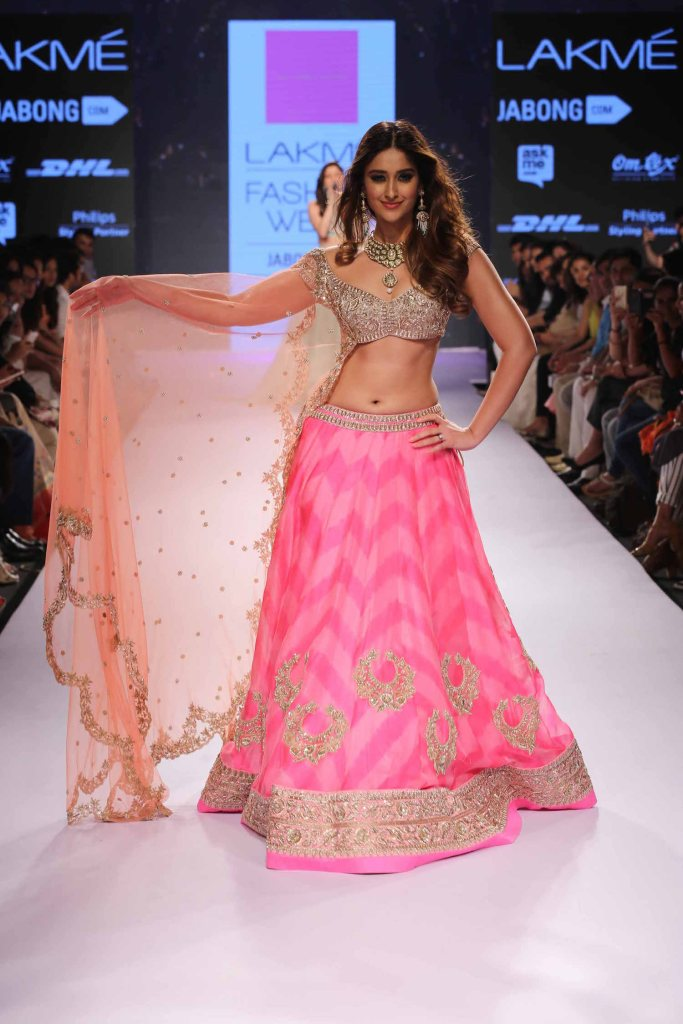 Ileana D'Cruz walks for Anushree Reddy at Lakme Fashion Week Summer Resort 2015