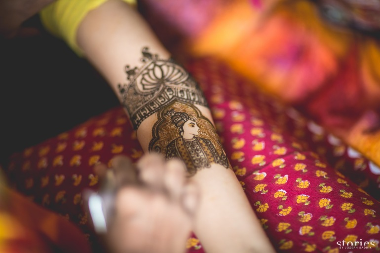 Intricate Mehendi design for bride Shonan & Adesh | thedelhibride Indian wedding blog