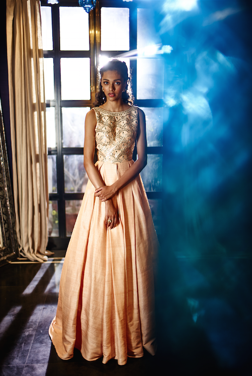 The Summer Bride by Anita Dongre - A vintage peice raw silk gown in blush pink | new collection | thedelhibride Indian weddings blog