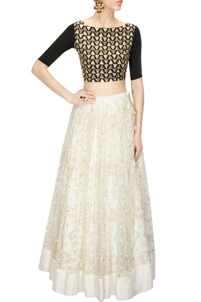 30000 Prathyusha Garimella white ivory embroidered lehenga for Reception