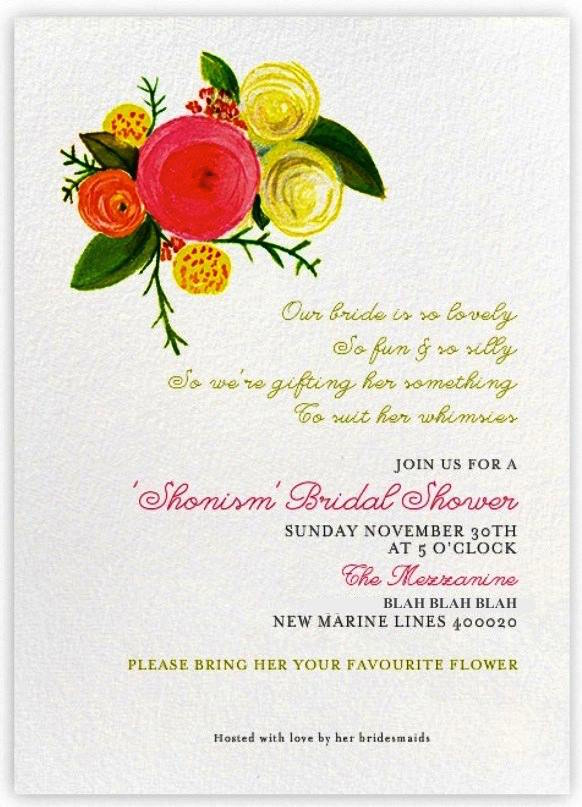 Save The Date Card bridal shower