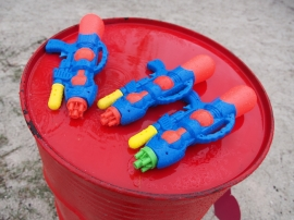 Water guns for a rain dance