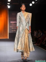 Benarsi silk sari paired with chander jacket made for a fabulous combination