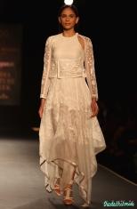 Hand Embroidered Silk Organza Asymmetric Dress - Rahul Mishra - Amazon India Couture Week 2015