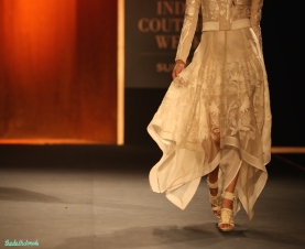 Hand Embroidered Silk Bomber Jacket with Asymmetric Hand Embroidered Dress 1 - Rahul Mishra - Amazon India Couture Week 2015