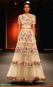 Hand embroidered chintz long dress - Rahul Mishra - Amazon India Couture Week 2015