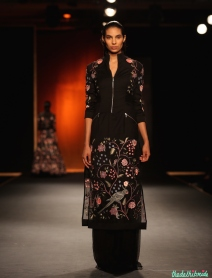 Hand Embroidered Chintz Jacket Dress with Silk Chiffon Palazzos - Rahul Mishra - Amazon India Couture Week 2015