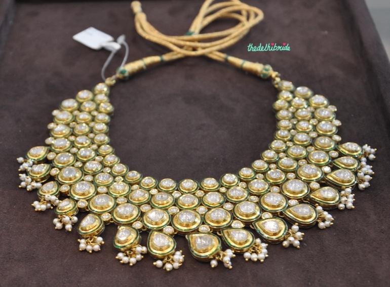 4 string Polki necklace - Bridal jewellery - Sanzany - Best of Wedding Asia Delhi 2015