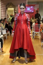 Anju Modi new collection sneak peek at Vogue Bridal Studio for Vogue Wedding Show 2015 red anarkali