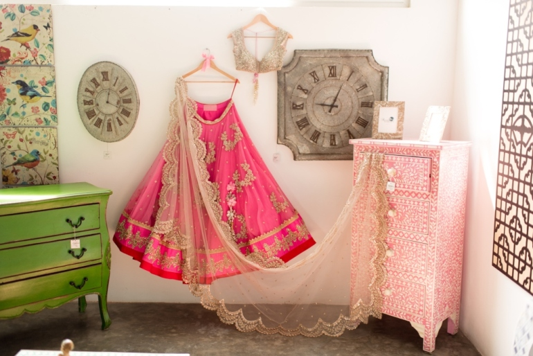 Anushree Reddy floral pink lehenga 2015 collection