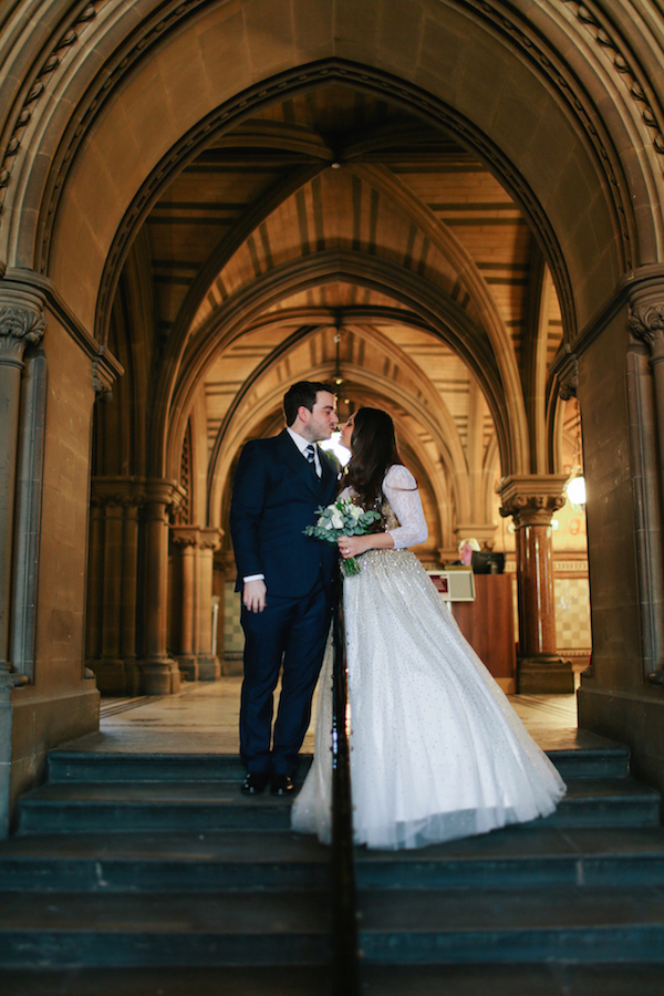 Bride and groom potrait in Manchester 1 | Anushka Hajela Wedding Wardrobe