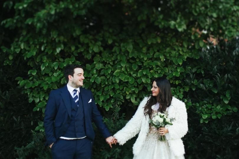 Bride and groom potrait in Manchester 2 | Anushka Hajela Wedding Wardrobe