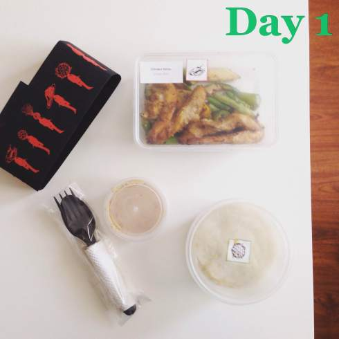 Day 1 Main Chicken Satay with Garlic Mash | Eatonomist review #FitwithTDB healthy food in Gurgaon