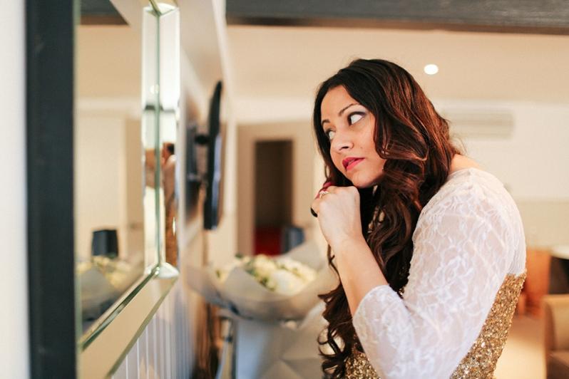 Getting Ready shots of the bride | Anushka Hajela Wedding Wardrobe