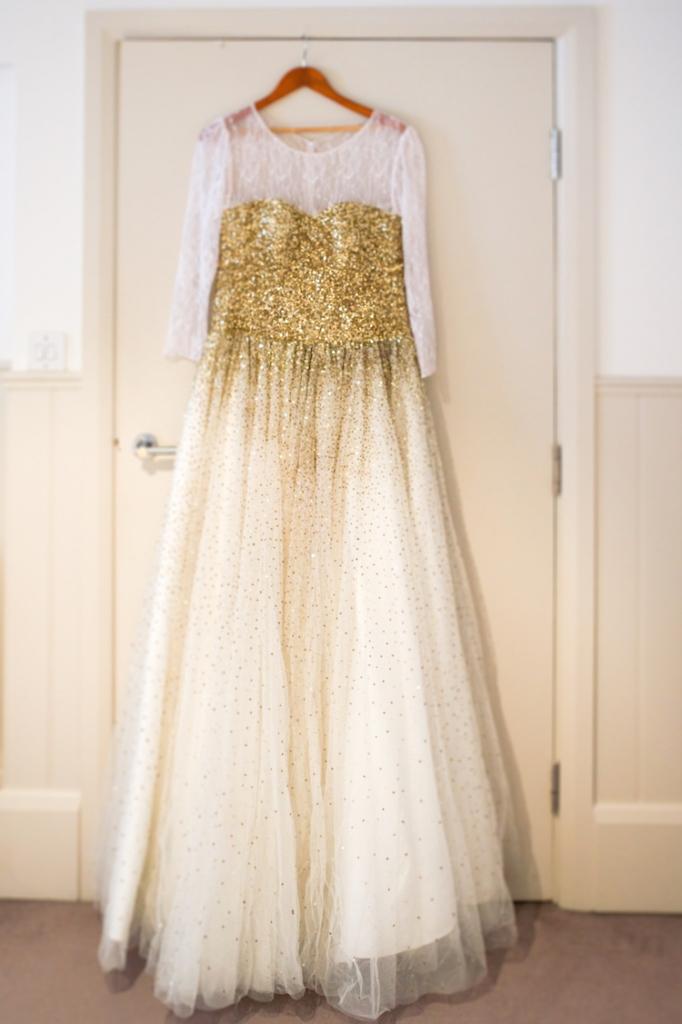 Getting Ready White wedding gown Anushka Hajela Wedding Wardrobe