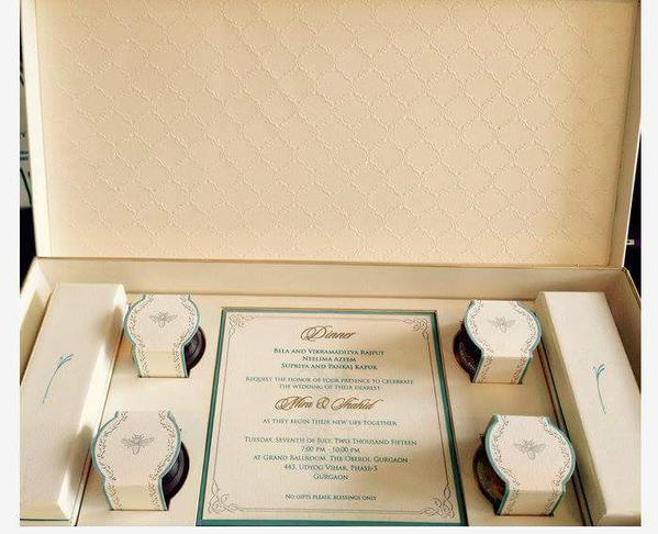 Invitation card - Shahid Kapoor and Mira Rajput's Wedding - Miss Malini