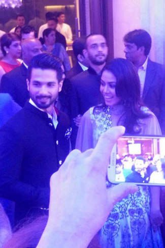 Shahid Kapoor & Mira Rajput at their Delhi Reception party