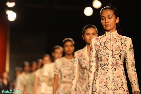 Models in Chintz Print Outfits - Rahul Mishra - Amazon India Couture Week 2015