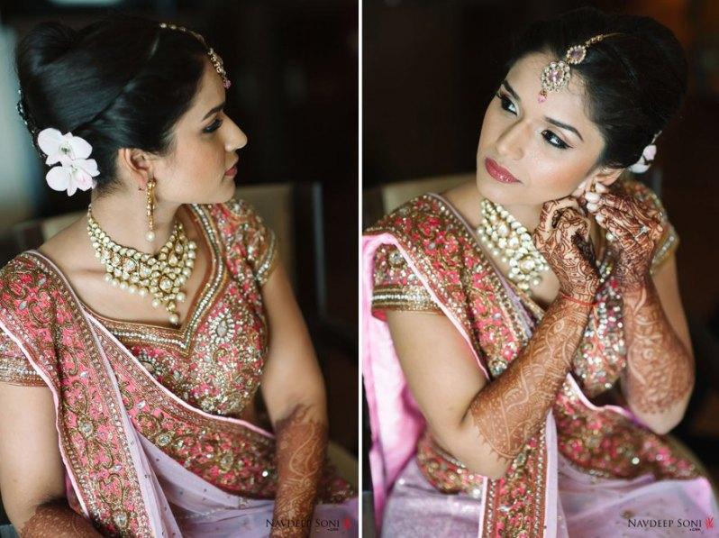 Pastel Lehenga Bride - Subtle Make up - Bridal Make-up