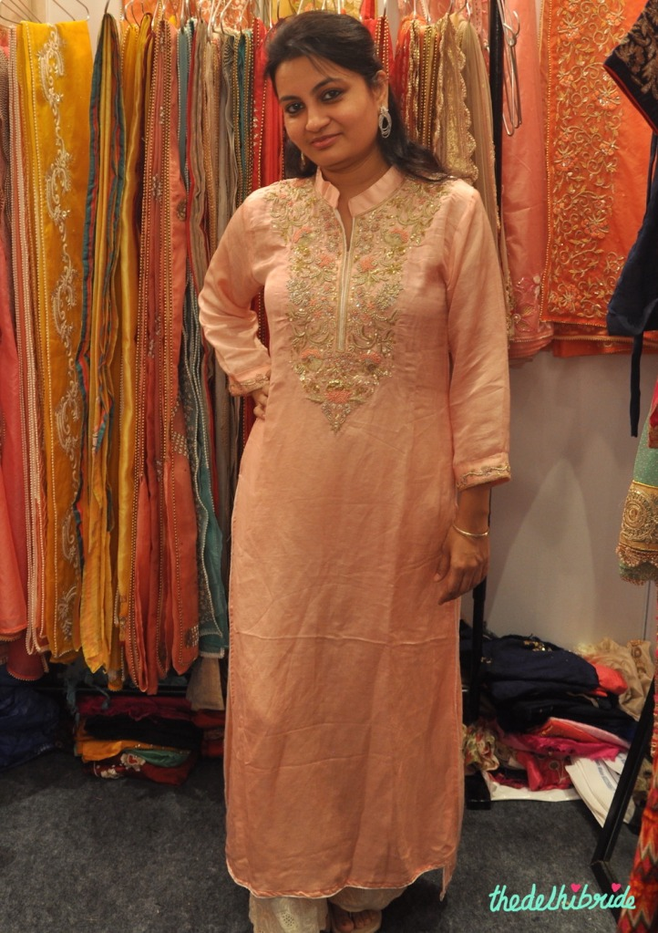 Peach kurti - Aura Kreations - Best of Wedding Asia Delhi 2015