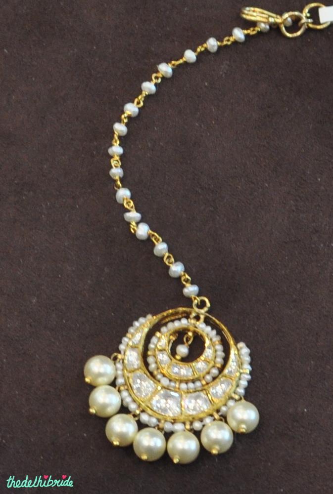 pearl _ stone mangtika - jewellery - Sanzany - Best of Wedding Asia Delhi 2015