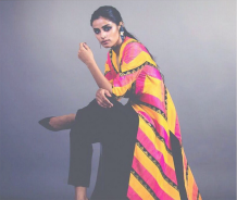 Priyal Prakash winter festive 2015 collection sneak peek yellow and pink