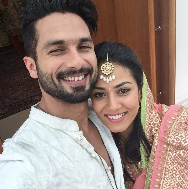 Shahid Kapoor Mira Rajput first wedding selfie
