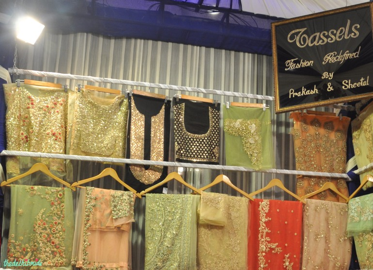 Tassels saree display - Tassels - Best of Wedding Asia Delhi 2015