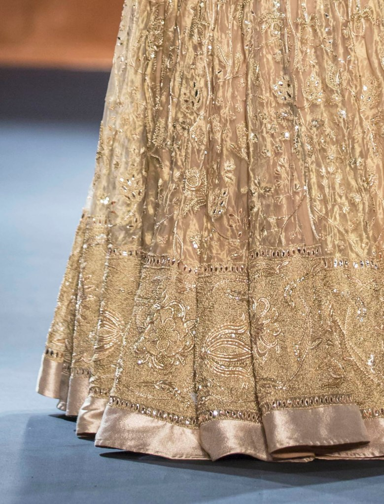 Top Picks Hand Embroidered Gold Benarasi Lehenga with Hand Embroidered Cape 2 - Rahul Mishra - Amazon India Couture Week 2015