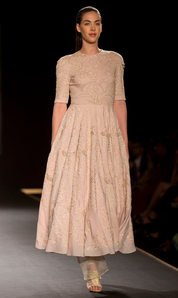 Top Picks Hand Embroidered Silk Long Dress 1 - Rahul Mishra - Amazon India Couture Week 2015