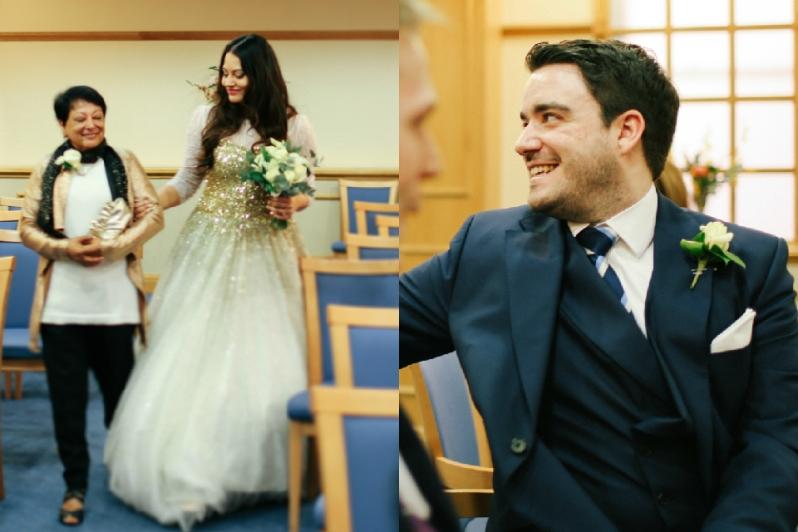 Wedding Ceremony at Registry 2 Walking down the aisle first look | Anushka Hajela Wedding Wardrobe