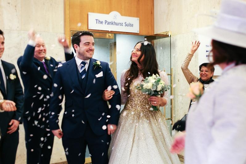 Wedding Ceremony at Registry 4 newly married | Anushka Hajela Wedding Wardrobe