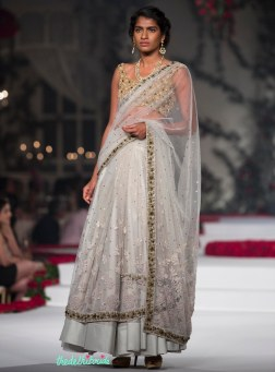 Pale Blue Lehenga with Encrusted Floral Blouse and Hand Embroidered Net Duapatta with mukesh work - Varun Bahl - Amazon India Couture Week 2015.jpg