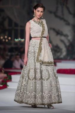 Heavily Embroidered Lehenga set - Varun Bahl - Amazon India Couture Week 2015