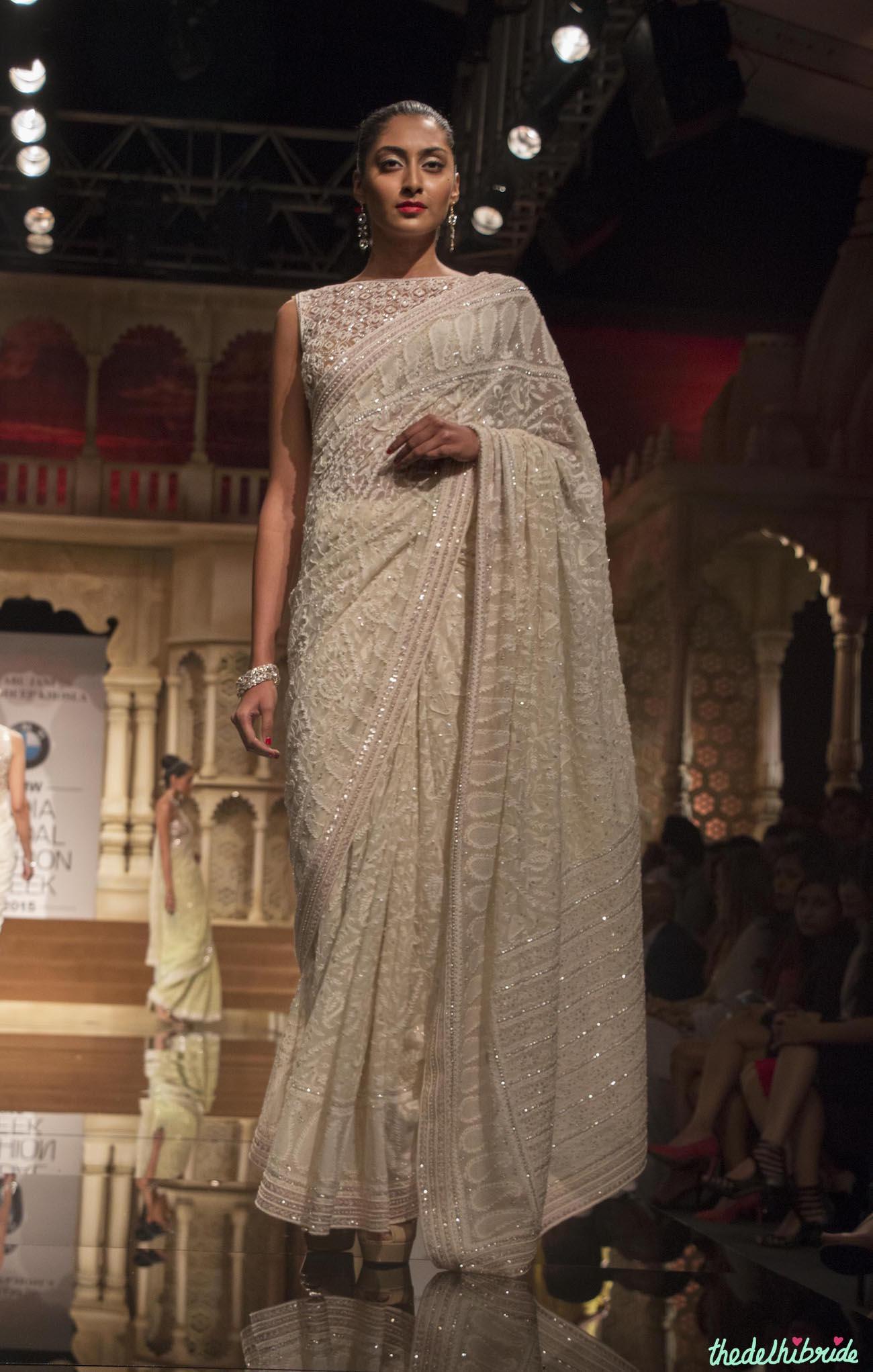 abu jani sandeep khosla  u2013 off white embroidered chikankari