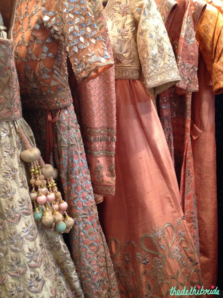 Anita Dongre - Peach & Pink Collection - Vogue Wedding Show 2015