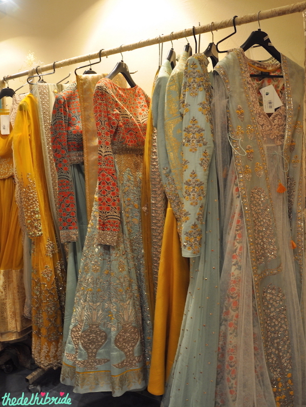 Anju Modi - Pale Blue & Yellow Collection - Vogue Wedding Show 2015