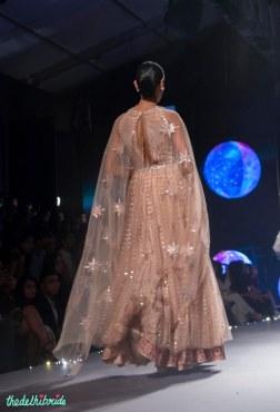 Blush pink Anarkali with Sequins and dupatta with star motifs - Tarun Tahiliani - BMW India Bridal Fashion Week 2015