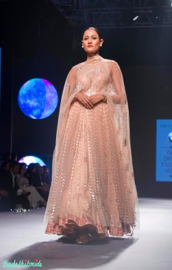 Blush pink Anarkali with Sequins - Tarun Tahiliani - BMW India Bridal Fashion Week 2015