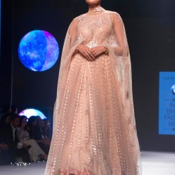 Blush pink Anarkali with Sequins - Tarun Tahiliani - BMW India Bridal Fashion Week 2015