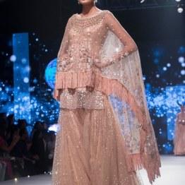 Blush Sharara with kurta and cape - Tarun Tahiliani - BMW India Bridal Fashion Week 2015