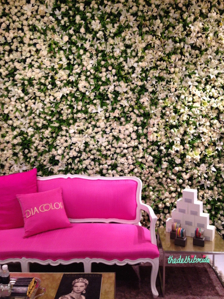 Diacolor - Floral Wall Wedding Stage Decor - Vogue Wedding Show 2015