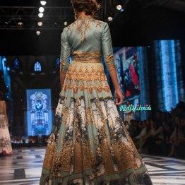 Falguni and Shane Peackcock - Ice Blue Gown with Digital Baroque Print Back - BMW India Bridal Fashion Week 2015