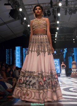 Falguni and Shane Peackcock - Pale Pink Lehenga with Digital Baroque Print - a vintage French style print - BMW India Bridal Fashion Week 2015