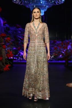 Heavily embroidered long sheer jacket with Pants - Manish Malhotra - Amazon India Couture Week 2015